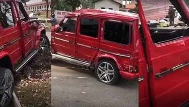 Photo of Man Crashes G-Wagon He Rented To Impress A Girl (Watch Video)